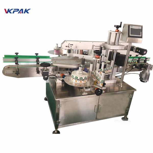 Automaattinen Wrap Labeling Machine pyöreän pullon etu- ja takaosaan